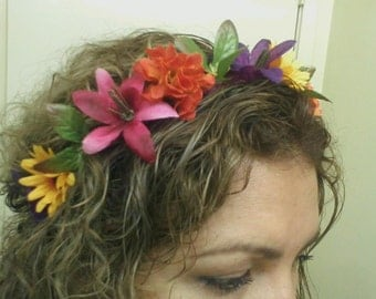 Colorful flower headband