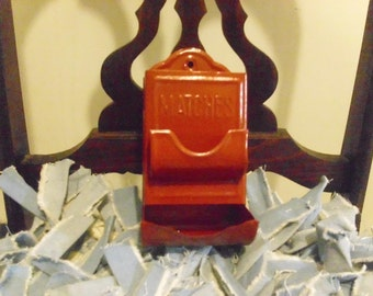 Vintage Red Matchbox Holder