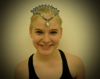 Blue Tear Drop Tiara