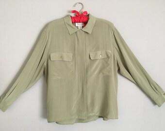 Vintage Jones New York 100% Silk Blouse