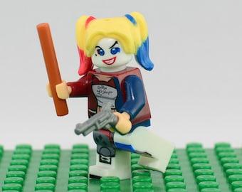 Harley Quinn Custom minifigure (Lego Compatible) DC Comics Harleen Quinzel Suicide Squad Superhero Batman Villain Arkham Joker Christmas #4