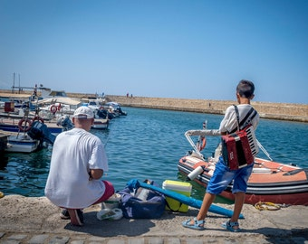Fishermans friend - travel photography, Greece, C-Type print