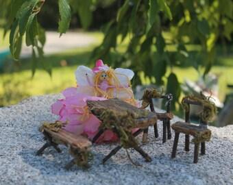 Fairy garden furniture/4 piece accessories
