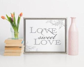Love Sweet Love Sign, Dessert Table Sign, Cake Table Decor, Wedding Dessert Table, Dessert Table Signs, Dessert Buffet Ideas, Dessert Sign