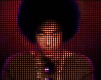 Prince poster Singer Rock Pop Legend art