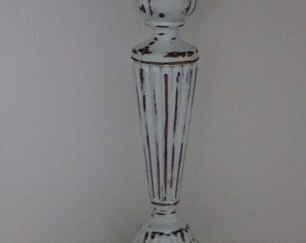 Hand painted candle stick accent