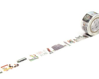MT This is Rome Masking Tape, Washi Tape, Planner Accessories, Gift Wrapping, Scrapbooking Embellishments,