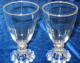 Vintage Imperial Boopie Juice Glasses Set of 2