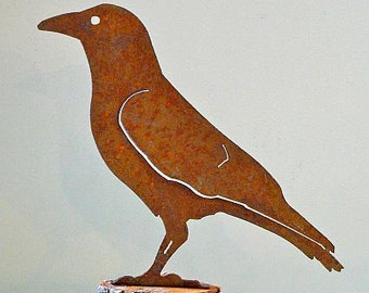 Elegant Bird Silhouette American Crow