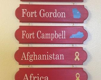 Duty station sign