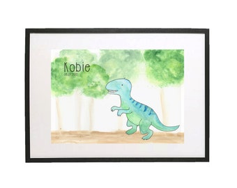 Dinosaur Kids Art // Nursery Art // 'Oh Baby, Baby!' Baby and Kids Framed Prints // Wall Art // Children