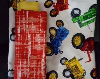 Pillowcase with Tractors