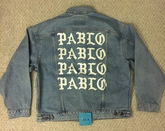 Kanye West TLOP The Life of Pablo Vintage Levis Denim Jacket