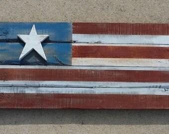 Rustic Wood Flag (medium)