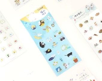 Sleepy Cat Stickers