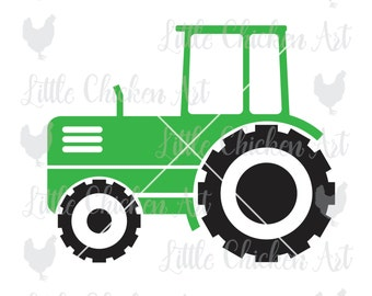 Tractor cut file, clip art, graphic, Silhouette, Cricut, Brother, graphics, ScanNCut, Design Space, Cameo, svg, dxf, jpeg, eps, png