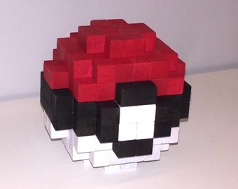 PokeBall inspired 3D-Holzskulptur