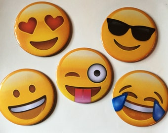 Emoji Coasters (Set of 5)