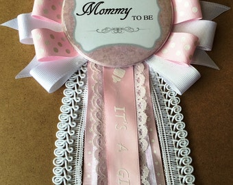 Girl Baby Shower Pin
