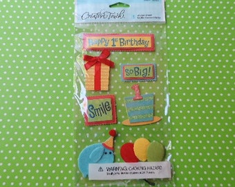 Baby's 1st birthday scrapbook stickers by Creative Touch