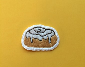 Cinnamon Bun hand embroidered patch