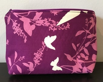 Purple and Pink Butterfly Pattern Makeup Bag or pencil case!