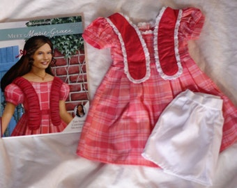 Used American Girl Marie-Grace Meet outfit + book
