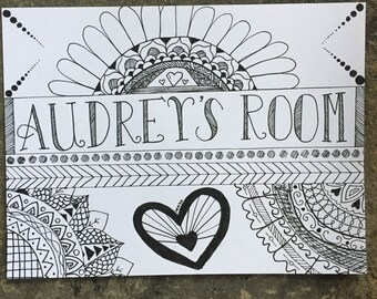 Personlized Room Name Plate