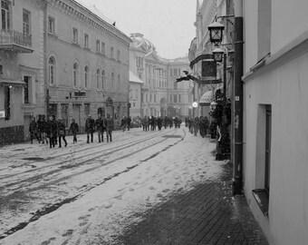 Snowy Return, Vilnius, Lithuania