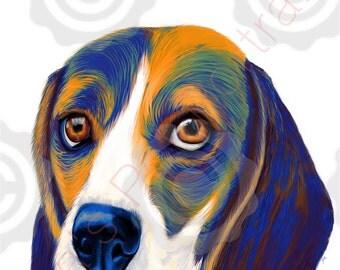 Beagle art ( colorful)