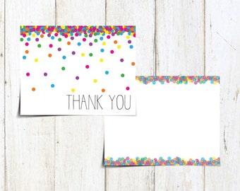 Raining Rainbow - Thank You Notecard