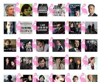 """Sherlock Digital 8.5x11"""" collage sheet, 42, 1"""" squares"""