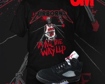 """Jordan 5 OG Metallic 3M """"AirBorne"""" T-Shirt : Retro 5 Metallic Shirts"""