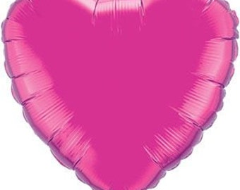 "Hot Pink Heart Balloon-18"" Foil Balloon- Party Decorations"