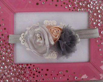 baby girl silver headband baby girl grey headband newborn headband grey headband girls silver headband girls grey headband