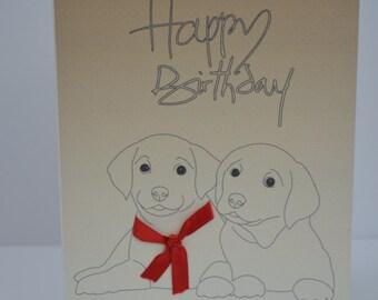 Puppies Happy Birthday Card