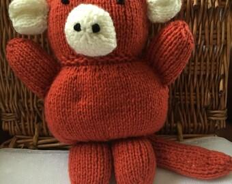 Hamd Knitted Monkey