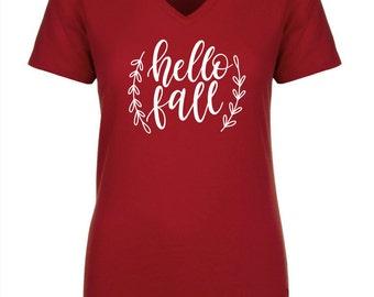 Hello Fall Shirt, Hello Fall TShirt, Happy Fall Shirt, Fall Tshirt, Fall Shirt, Thanksgiving Shirt, Autumn Shirt, Seasonal Shirt