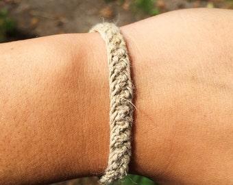 Macrame Triple Cobra Stitch 100% Natural Hemp Bracelet