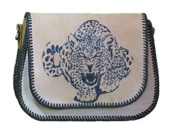 Bag Leopard genuine leather