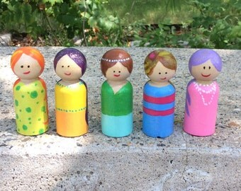 Lovely lady peg dolls
