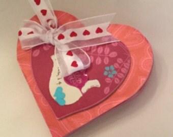 Heart Valentine Chipboard Book