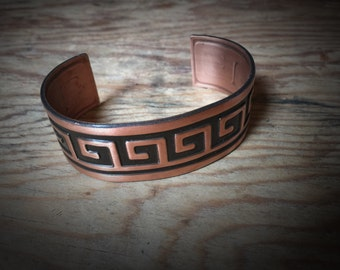 Vintage Solid Copper Cuff