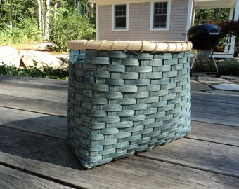 Magazine Basket - Blue Wash