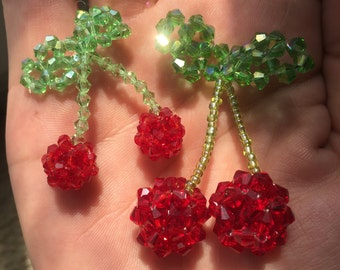 Cute Beaded Cherry Charm