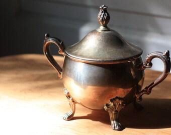 Sheridan Tauton Silversmiths Footed Sugar Bowl