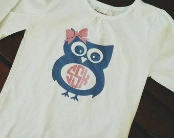 Custom Owl Toddler T-Shirt