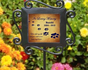 Personalized Pet Memorial Garden Stake In Loving Memory Dog Memorial Yard Stake