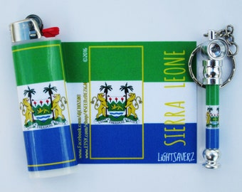 Sierra Leone matching PiPEWRAPZ & LiGHTERZ pipe and lighter