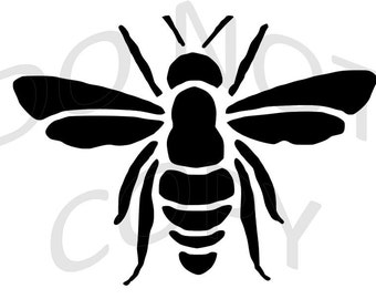 Bee Stencil Etsy